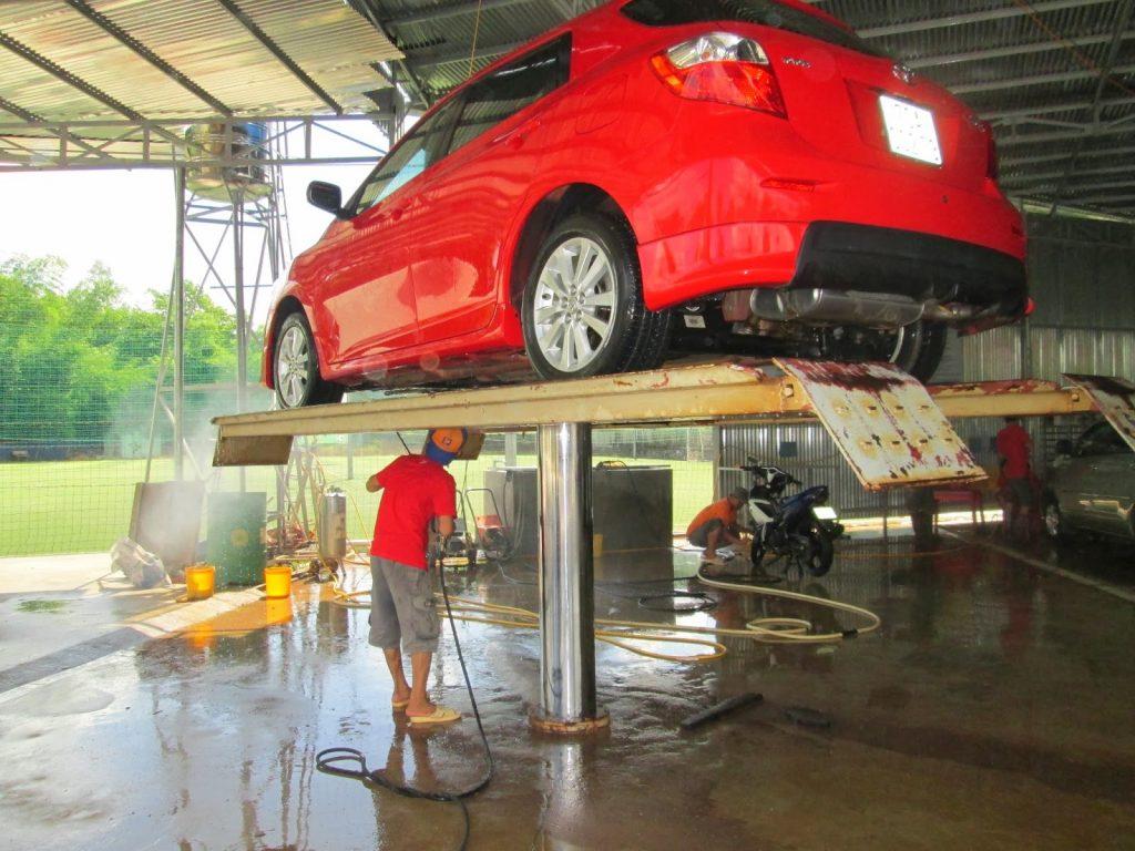kích thước cầu rửa xe ô tô