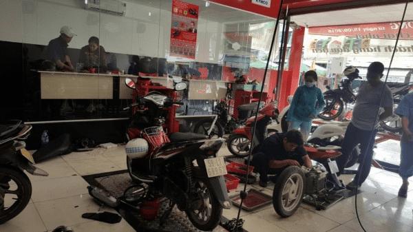 thu nhập của nghề sửa chữa xe máy